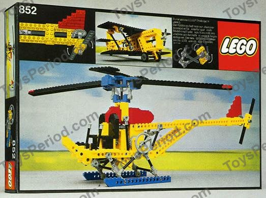 lego 852 multi purpose helicopter set parts inventory and instructions lego reference guide. Black Bedroom Furniture Sets. Home Design Ideas