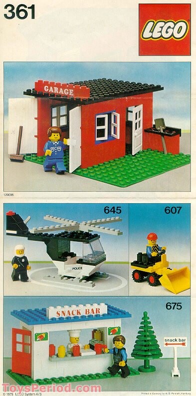Lego 361 2 Garage Set Parts Inventory And Instructions Lego