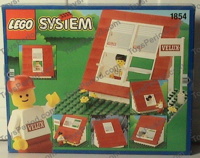 Lego 1854 velux promotional set house set parts inventory for Lego house original