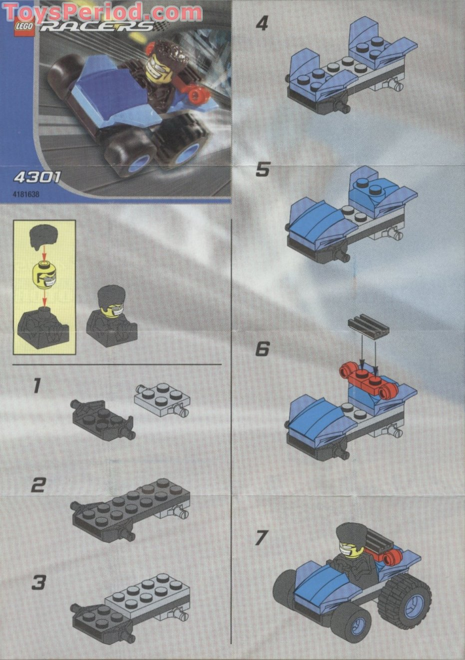 Lego 4301 Blue Racer Set Parts Inventory And Instructions