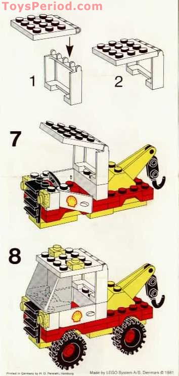 Lego 6628 1 Shell Tow Truck Set Parts Inventory And