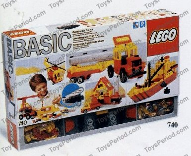 LEGO 740-1 Basic Building Set Set Parts Inventory and Instructions ...