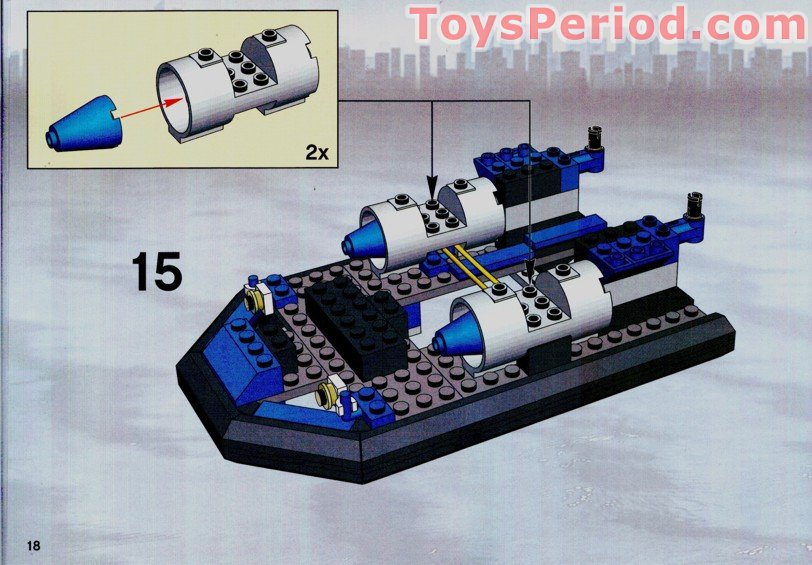 Lego 7045 Hovercraft Hideout Set Parts Inventory And