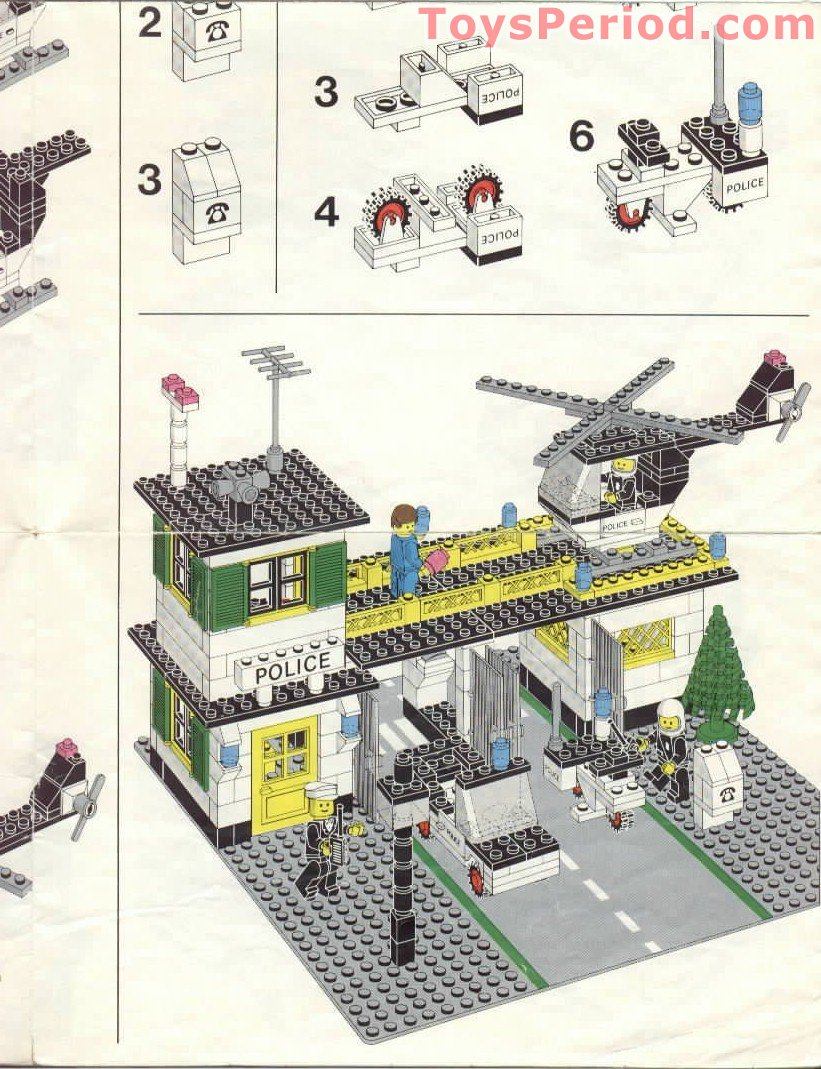 Lego 588 Police Headquarters Set Parts Inventory And Instructions