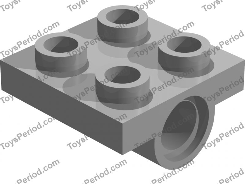 Lego Plate with 1x Socket Pin Hole 1x2 NEW Grey 5 Piece 267