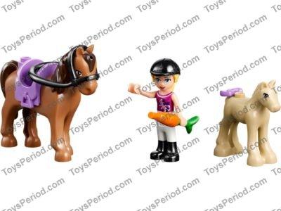 NEW GIFT HORSE W// 2x2 CUTOUT W// REDDISH BROWN SPOTS PATTERN LEGO ANIMALS