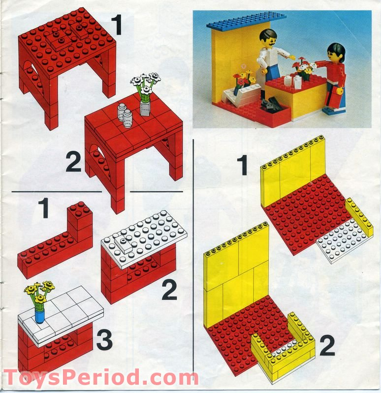 Lego 232 1 Bungalow Set Parts Inventory And Instructions Lego