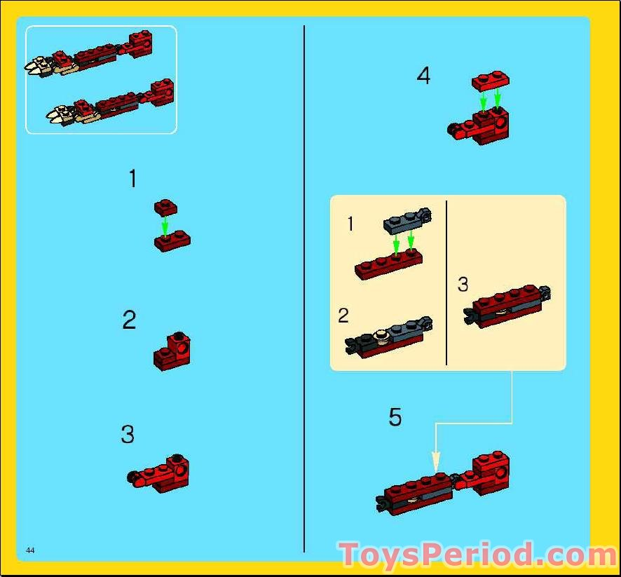lego creator 3 in 1 dinosaur instructions