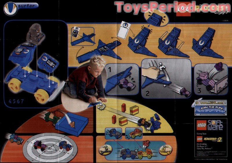 Lego 4567 Surfer Set Parts Inventory And Instructions Lego