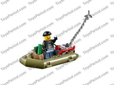 Lego Olive Green Small Rubber Raft Inflatable Boat
