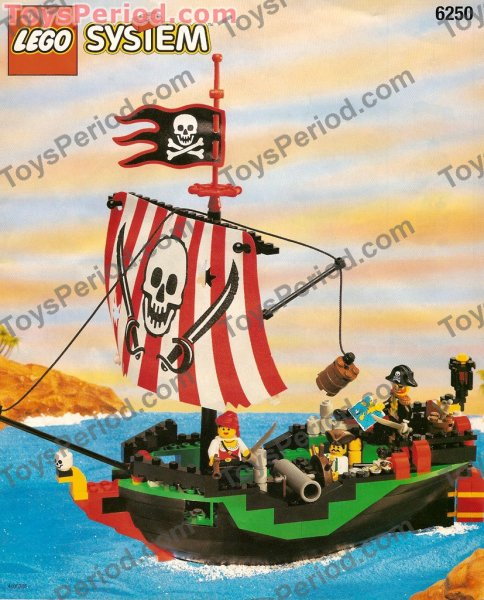 Lego 6250 Cross Bone Clipper Classic Pirates Ship Set 1997