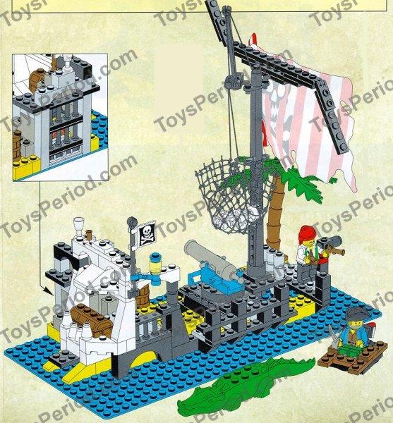 Lego 6296 Shipwreck Island Classic 1996 Vintage Pirate Set Image Number 2