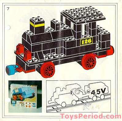 LEGO 126 Push-Along Steam Locomotive Set Parts Inventory ...