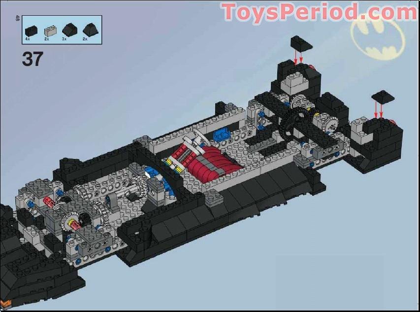 lego batmobile instructions 7784