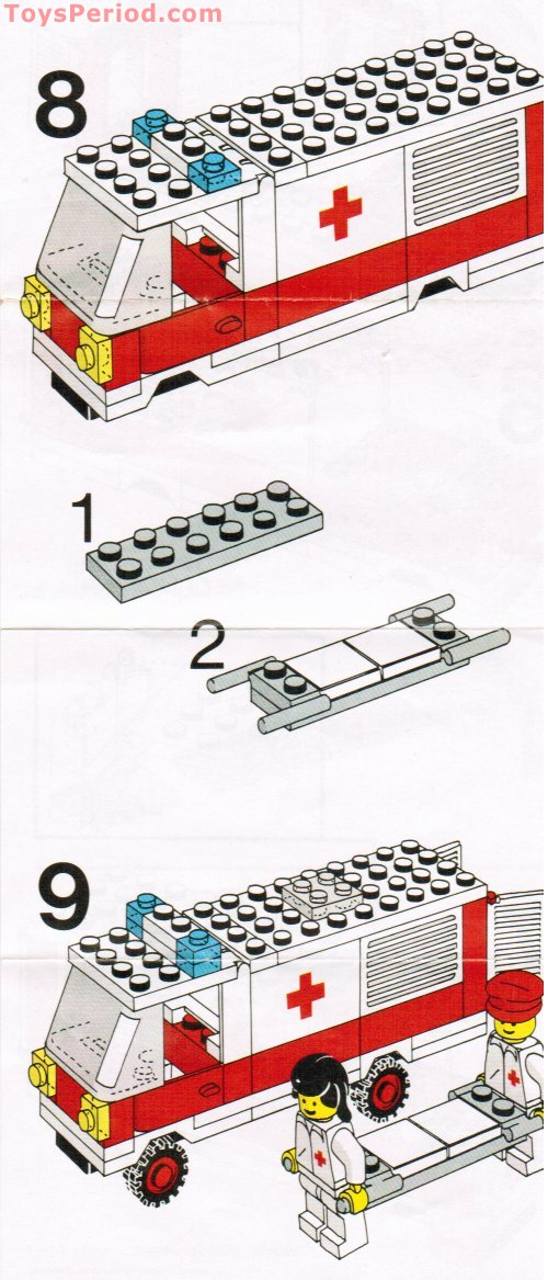 Lego 6680 Ambulance Set Parts Inventory And Instructions
