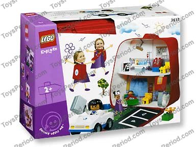 Lego 3617 On The Move Hospital Set Parts Inventory And
