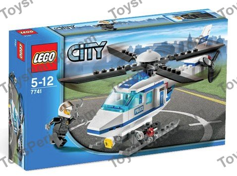 Lego 7741 Police Helicopter Set Parts Inventory And Instructions