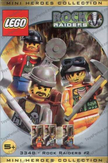 LEGO 3348 Three Minifig Pack - Rock Raiders Set Parts Inventory and ...