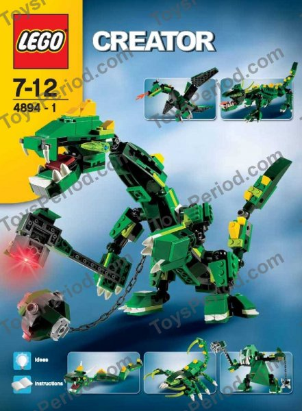 lego 4894 mythical creatures 2006 creator dragon monster set image