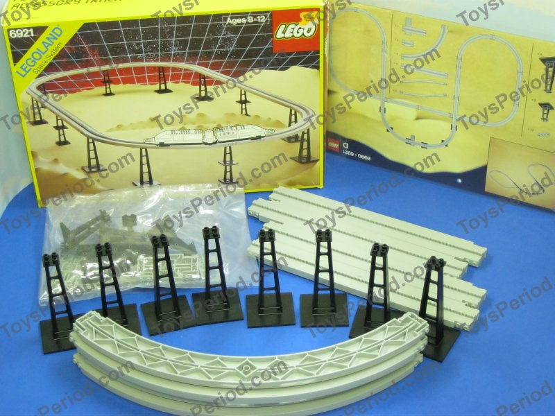 LEGO 6921 Monorail Accessory Track Set 80s Space or Town ...