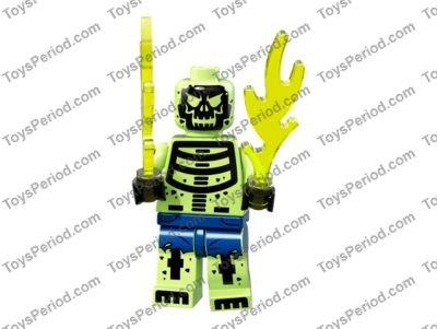 LEGO NEW BLUE MINIFIGURE HEAD MODIFIED CLOCK KING PIECE
