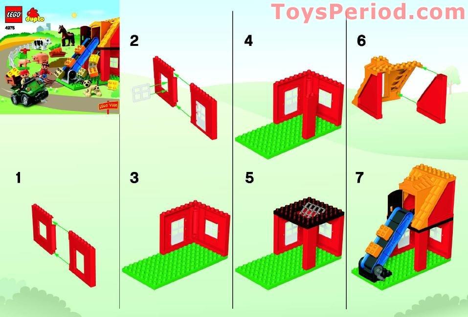 Lego 4975 Farm Set Parts Inventory And Instructions Lego