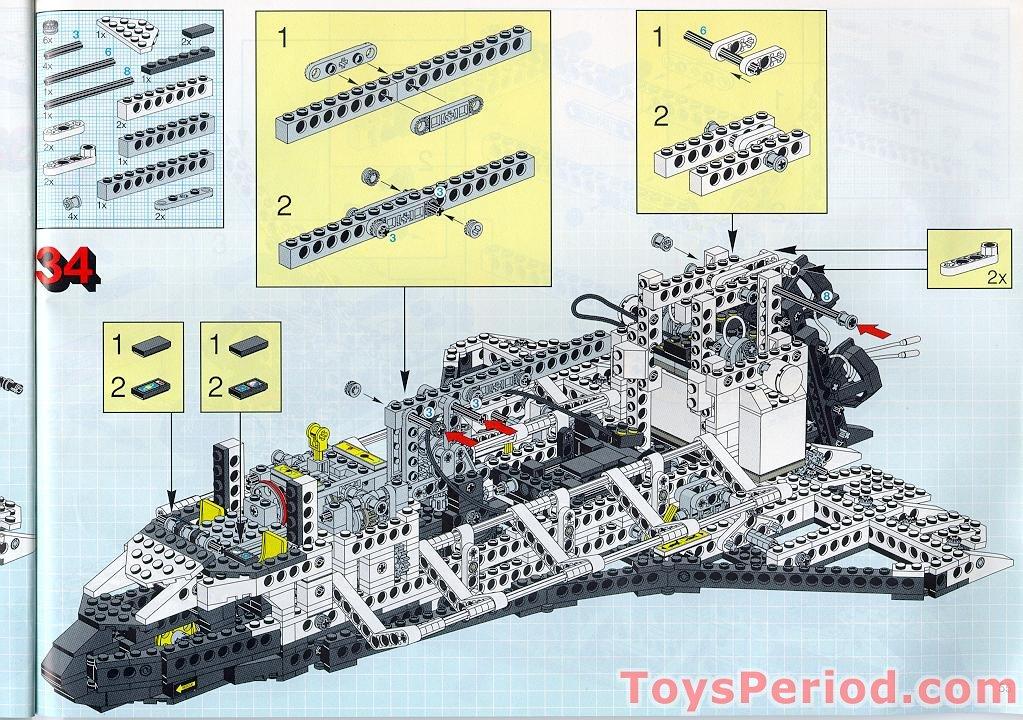 lego technic space shuttle parts list - photo #19
