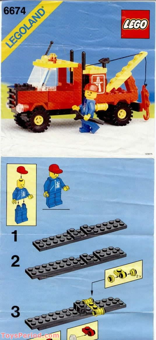 Lego 6674 Tow Truck Set Parts Inventory And Instructions