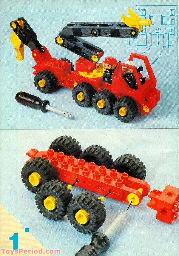 Lego 2940 Fire Truck Set Parts Inventory And Instructions