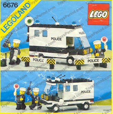 Lego 6676 Mobile Command Unit Set Parts Inventory And Instructions