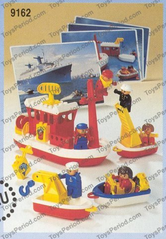 Lego 9162 duplo boats set parts inventory and instructions for Fishing lego set