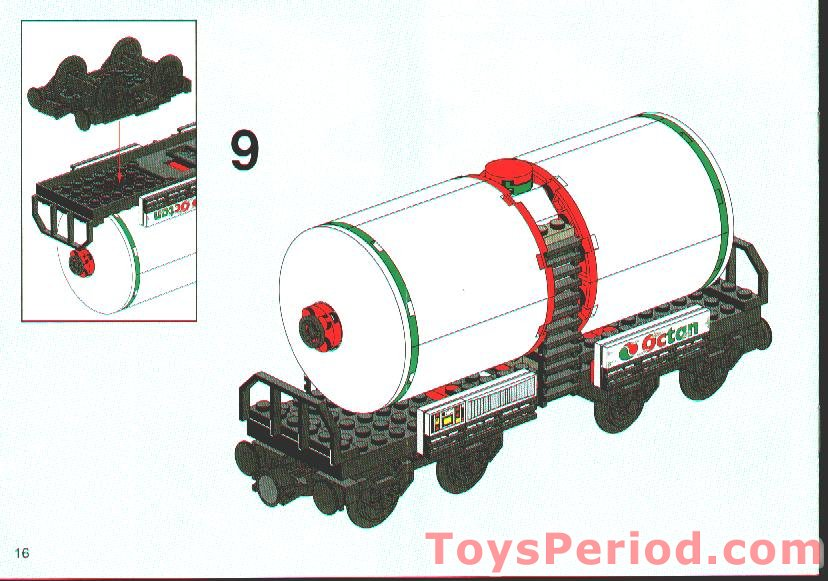 Lego Round Panels 10016 Train Tank Car