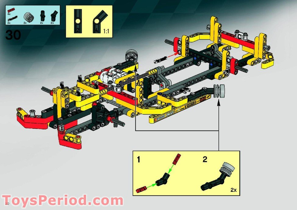 Lego 8146 Nitro Muscle Set Parts Inventory And