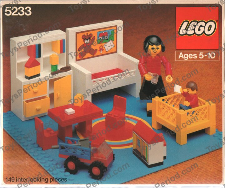 lego 5233 1 bedroom set parts inventory and