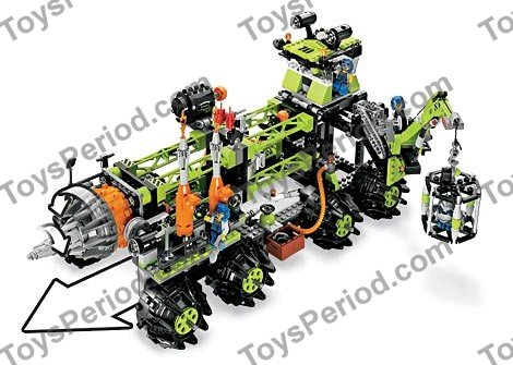 lego power miners titanium command rig instructions