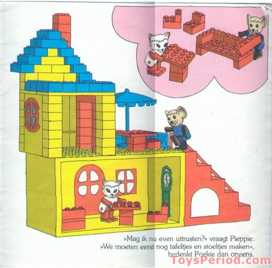 Lego 341 2 Cathy Cats And Morty Mouses Cottage Set Parts Inventory