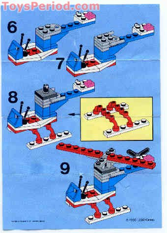 Lego 1630 Helicopter Set Parts Inventory And Instructions Lego