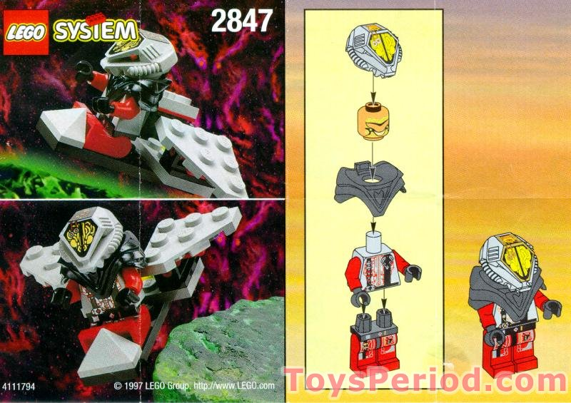 Inventory of parts needed to build lego 2847