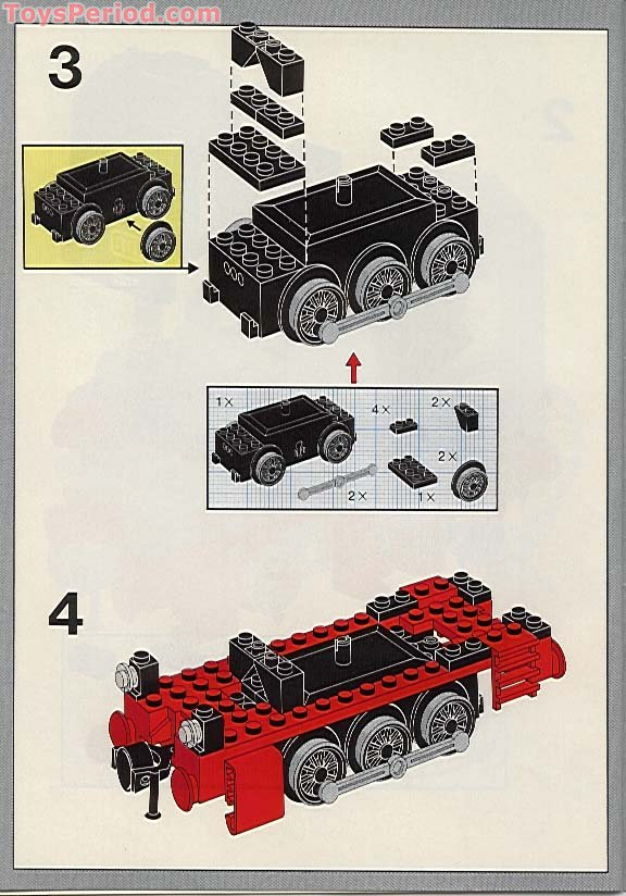 Lego 7722 steam cargo train. Full set with box & instructions.