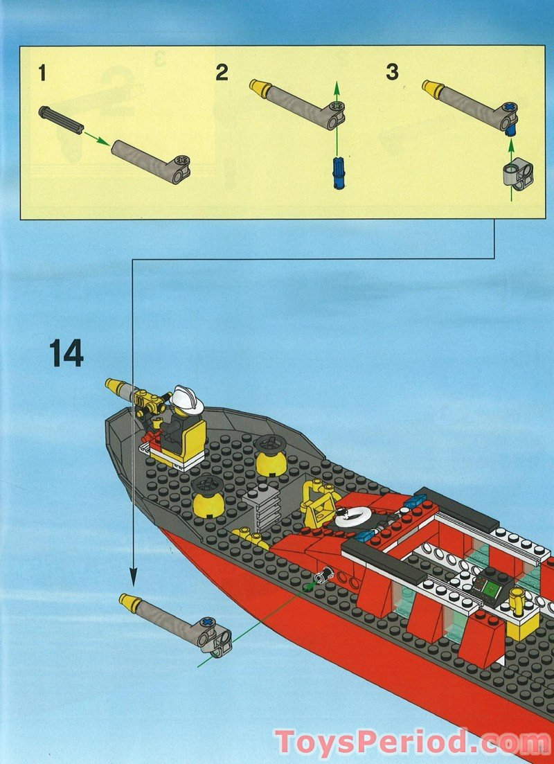 Lego 7906 Fire Boat Set Parts Inventory And Instructions Lego