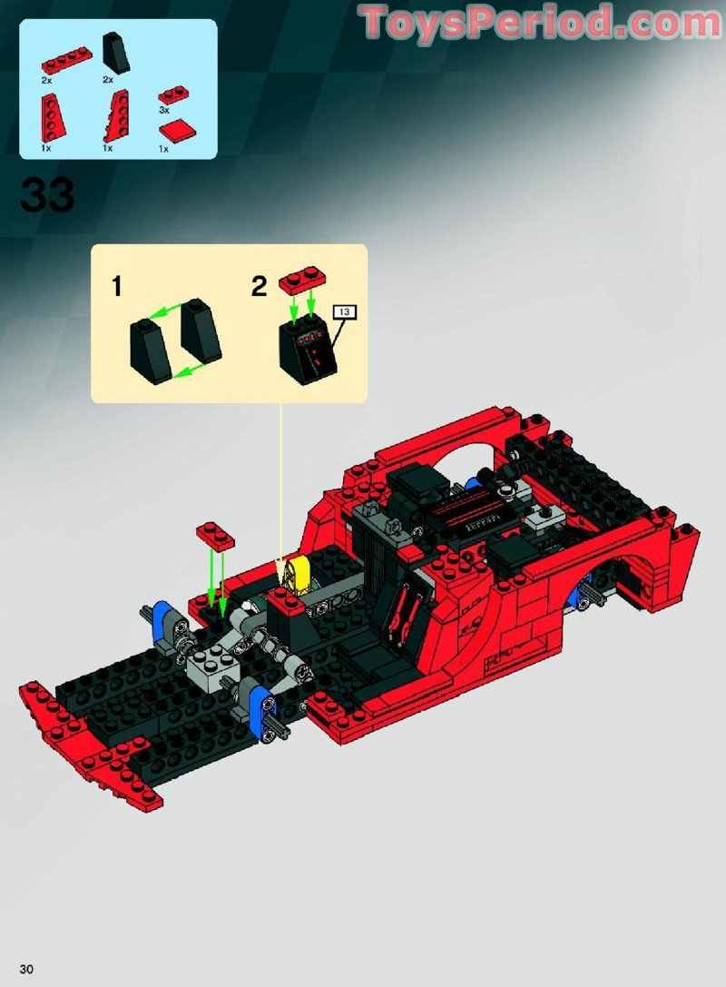 LEGO Slope Inverted 45-degree 3x1 Double ~ Red