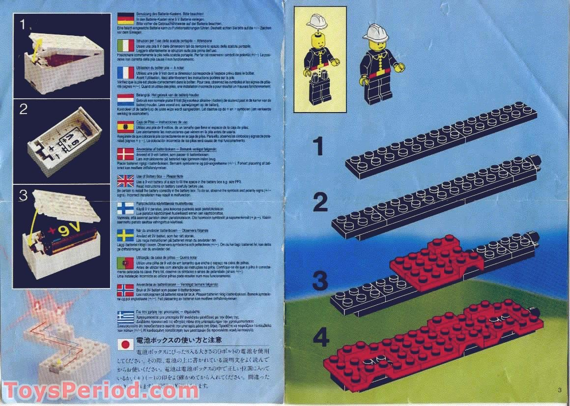 Lego 6480 Light And Sound Hook And Ladder Truck Set Parts