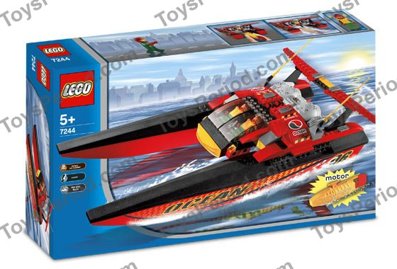 lego city race boat instructions