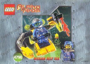 LEGO ALPHA TEAM CHARGE MISSION DEEP SEA MINI FIGURE VINTAGE