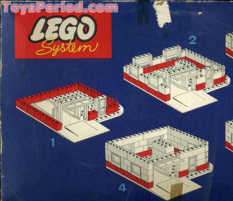 LEGO 310-5 Esso Filling Station Set Parts Inventory and