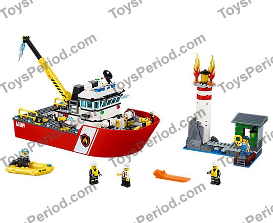 2 and 3 Only Baukästen & Konstruktionsspielzeug Lego City 60109 Fire Boat Instruction Manuals 1