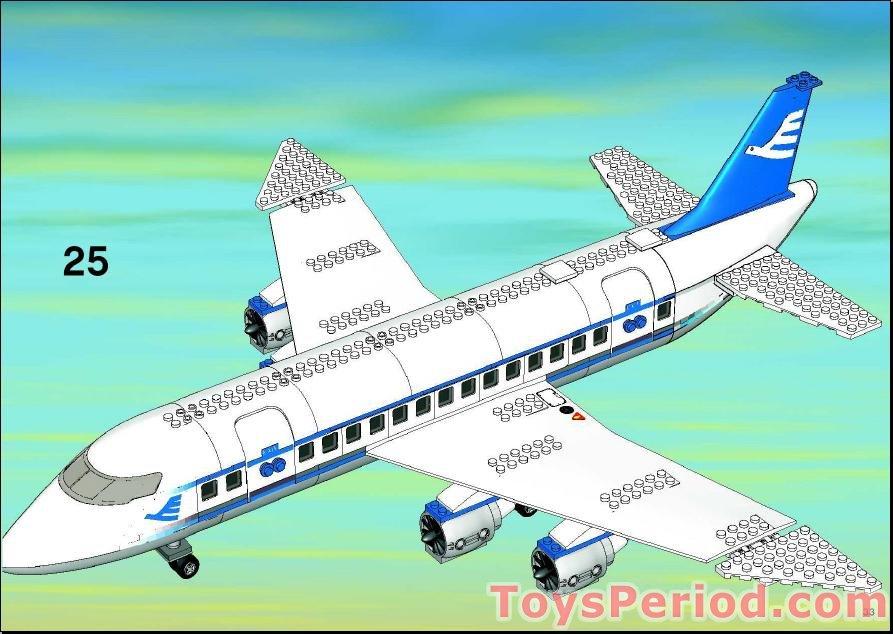 Lego 7893 1 Passenger Plane Set Parts Inventory And Instructions