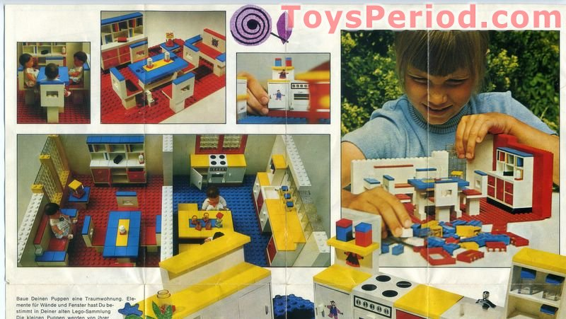 Lego Friends Kitchen Set Storage Complete Free Instruction Page 1970s