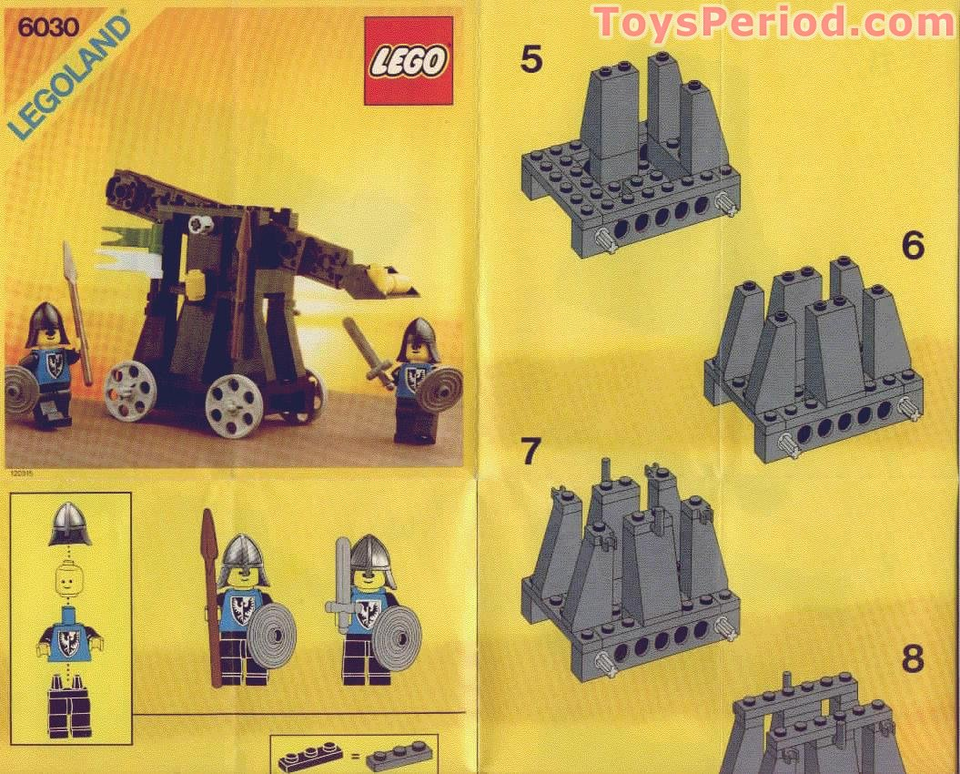 lego 6030 catapult set parts inventory and instructions lego reference guide. Black Bedroom Furniture Sets. Home Design Ideas