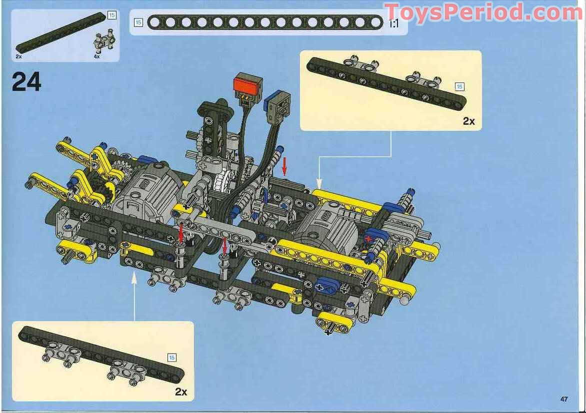 lego 8275 motorized bulldozer set parts inventory and instructions lego reference guide. Black Bedroom Furniture Sets. Home Design Ideas